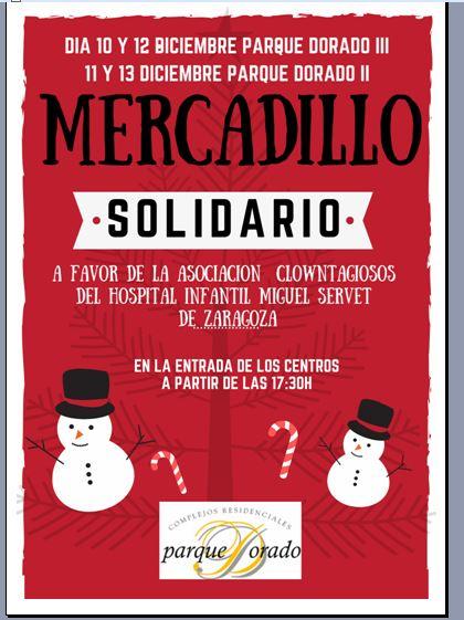Mercadillo Navideño solidario Centros Tercera Edad Parque Dorado
