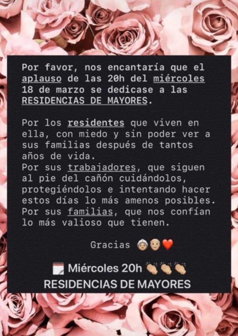Miércoles 18 de Marzo a las 20h.: Aplauso dedicado a Residencias de Mayores