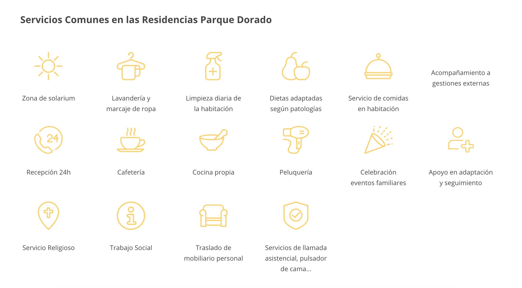 Servicios Comunes Residencias Parque Dorado